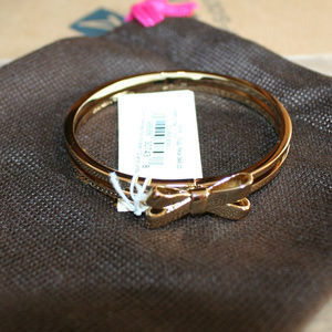 Kate Spade Early Bow Bracelet, Gold NWT